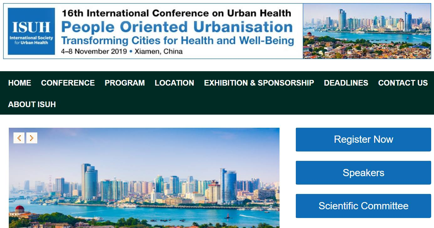 Pre-Conference Workshop, Urban Health, Xiamen, China